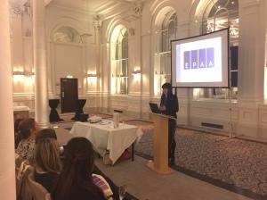 Victoria Darragh introducing EPAA to the Edinburgh PAs